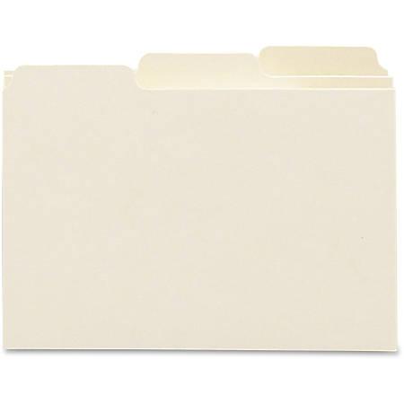 "Smead Card Guides, Blank Tab Sets - Blank - 5 Tab(s)/Set - 6"" Divider Width x 4"" Divider Length - Manila Manila Divider - Assorted Manila Tab - 100 / Box"