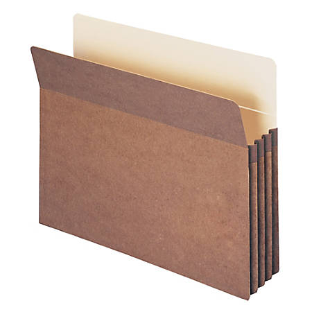 """Smead® Expanding File Pockets, 3 1/2"""" Expansion, 9 1/2"""" x 11 3/4"""", 30% Recycled, Redrope"""