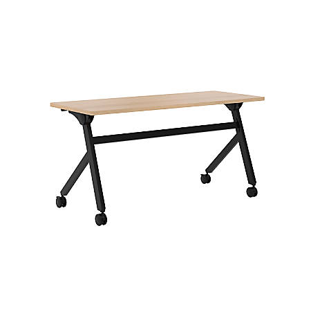 "basyx by HON® Multipurpose 60""W Flip-Top Training Table, Wheat"
