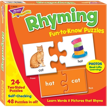 Trend Rhyming Puzzle Set - 3+48 Piece