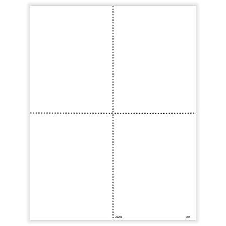 """ComplyRight™ W-2 Tax Forms, Inkjet/Laser, Blank, 4-Up Box Format, 8-1/2"""" x 11"""", Pack Of 50 Forms"""