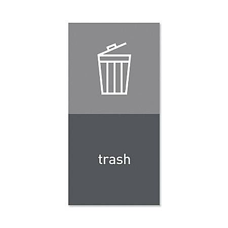 "simplehuman Magnetic Trash Label, Trash, 4"" x 8"", Gray"