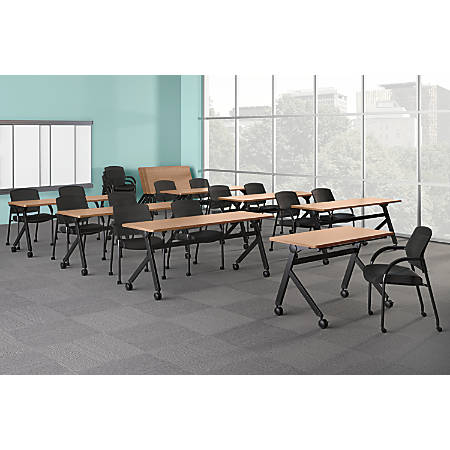 "basyx by HON® Multipurpose 72""W Flip-Top Training Table, Wheat"