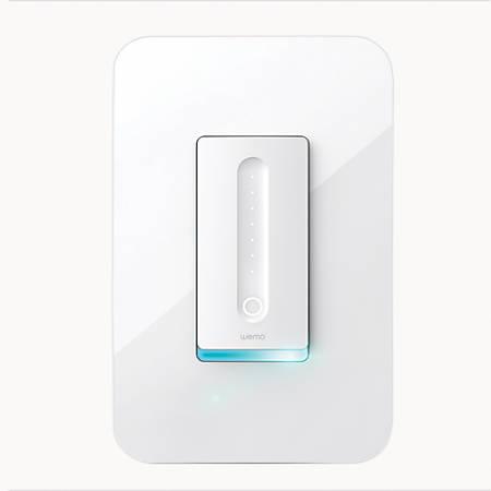 """Belkin® Wemo® Wi-Fi Smart Dimmer, 3-3/8""""H x 5""""W x 1-3/4""""D, White"""