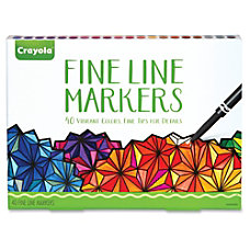 Crayola 40 count Fine Line Markers