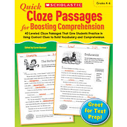 Scholastic Quick Cloze Passages For Boosting