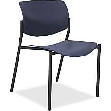 Lorell Molded Plastic Stacking Chairs Dark