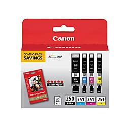 Canon PGI 250BKCLI 251CMY BlackColor Ink