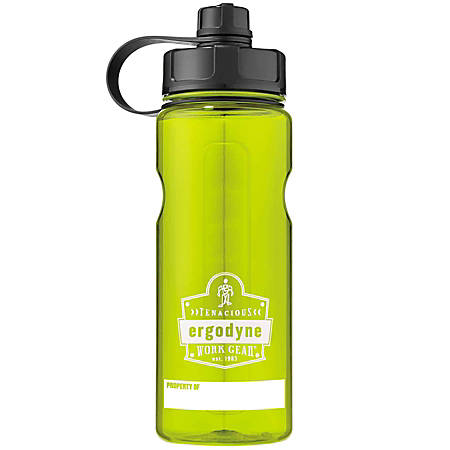 Ergodyne Chill-Its® 5151 Wide Mouth Water Bottle, 34 Oz, Lime