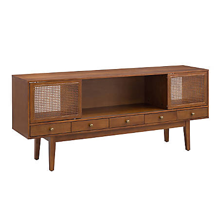 "Holly & Martin® Simms Media Console For 68""W Flat-Screen TVs, 29-3/4""H x 70""W x 17""D, Dark Tobacco"
