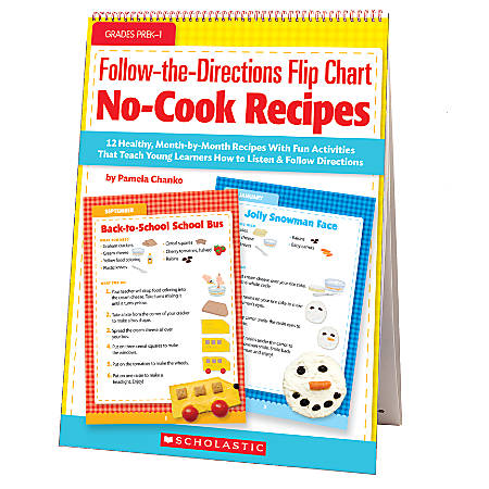 Scholastic Follow-The-Directions Flip Chart: No-Cook Recipes