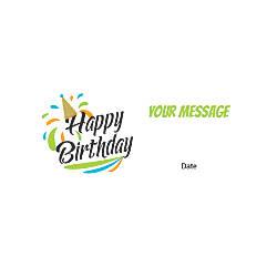 Flat Photo Greeting Card Birthday Cap