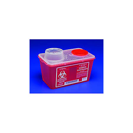 "SharpSafety™ Monoject™ Sharps Container, Medium, 8 Qt. Capacity, 6 3/4""W x 10 1/2""L x 10 7/8""H"