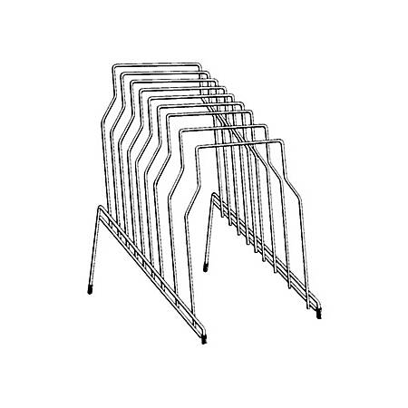 """Fellowes Wire Step File® - 8 Compartment(s) - 8 Divider(s) - 11.8"""" Height x 10.1"""" Width x 12.1"""" Depth - Desktop - Silver - Steel - 1Each"""