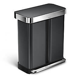 simplehuman Dual Compartment Rectangular Step Stainless