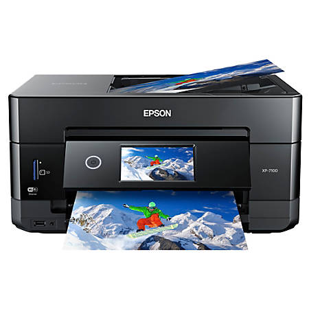 Epson® Expression Premium XP-7100 Wireless Color Inkjet Small-in-One Printer, Scanner, Copier, C11CH03201