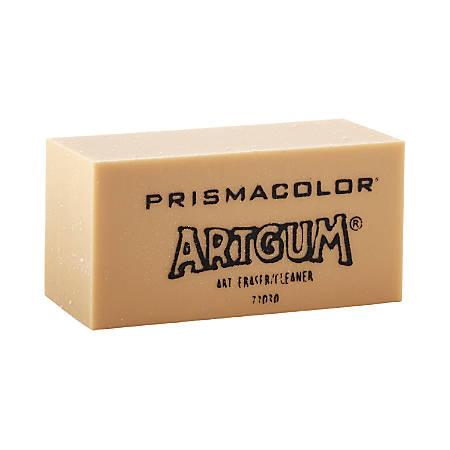 "Prismacolor® Art Gum Eraser, 2""H x 1""W x 7/8""D, Beige, Pack Of 12"