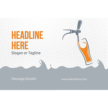 Custom Poster, Beer tap glass, Horizontal