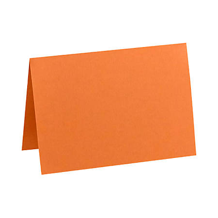 "LUX Folded Cards, A6, 4 5/8"" x 6 1/4"", Mandarin Orange, Pack Of 50"
