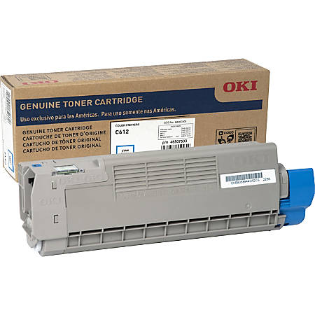 Oki Original Toner Cartridge - Cyan - LED - 6000 Pages - 1 Each