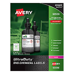 Avery UltraDuty GHS Chemical Labels AVE60506