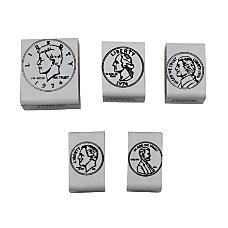 Center Enterprises Coin Heads Rubber Stamp