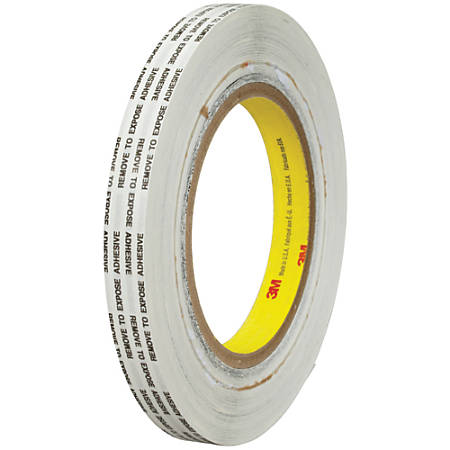 "3M™ 466XL Adhesive Transfer Tape, 3"" Core, 0.5"" x 1,000 Yd., Clear, Case Of 12"
