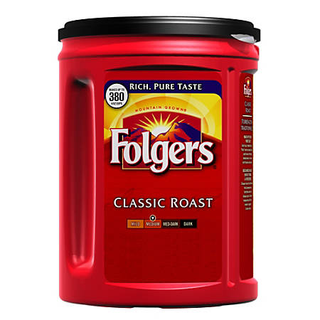 Folgers Classic Roast Coffee, 48-Oz Can