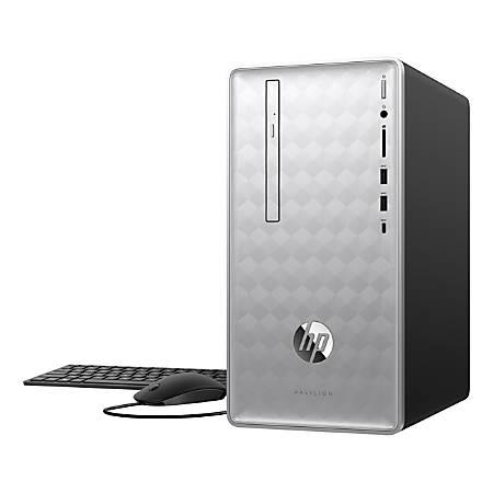 HP Pavilion 590-p0086 Desktop PC, 8th Gen Intel® Core™ i7+, 8GB Memory/ 16GB Intel® Optane™ Memory, 1TB Hard Drive, Windows® 10 Home