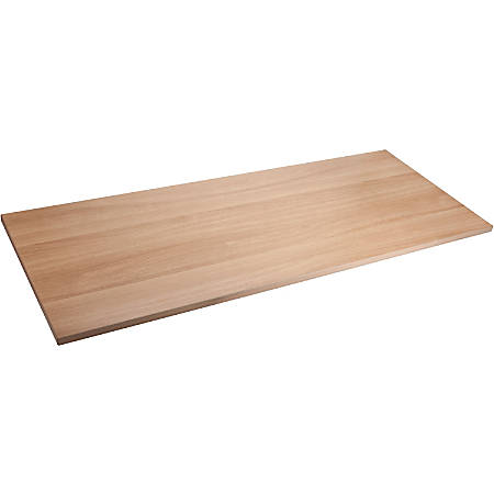 "Lorell® Quadro Sit-To-Stand Laminate Table Top, 72""W x 24""D, Latte"