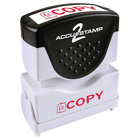 "ACCU-STAMP2® Copy Stamp, Shutter Pre-Inked One-Color COPY Stamp, 1/2"" x 1-5/8"" Impression, Red Ink"