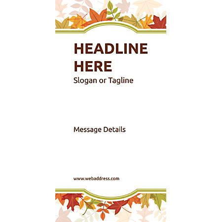 Custom Vertical Display Banner, Autumn Frame