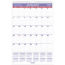 AT A GLANCE Monthly Wall Calendar