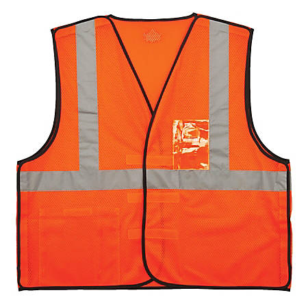 Ergodyne GloWear Safety Vest, ID Holder, Type-R Class 2, Small/Medium, Orange, 8216BA
