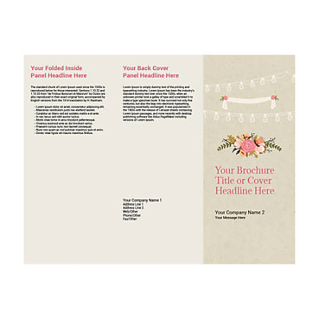 Customizable Trifold Brochure, Wedding Celebration