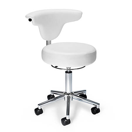 OFM Antimicrobial/Antibacterial Anatomy Chair, White/Chrome