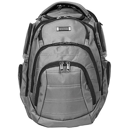 Kenneth Cole Reaction Deluxe Laptop Laptop Backpack, Charcoal