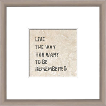 """PTM Images Photo Frame, To Be Remembered, 14""""H x 1 1/4""""W x 14""""D, Silver"""