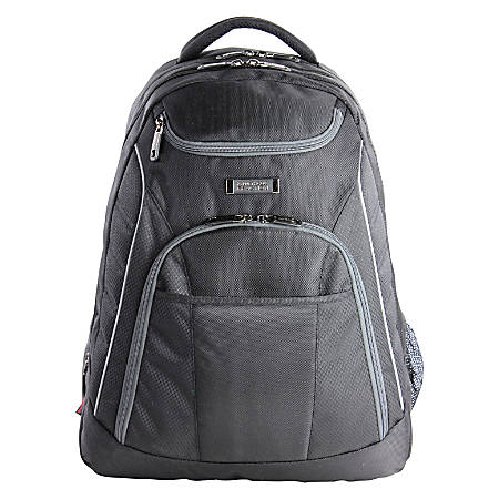 Kenneth Cole Reaction Expandable Laptop Backpack, Black/Blue