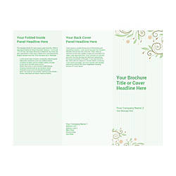 Customizable Trifold Brochure Green Floral