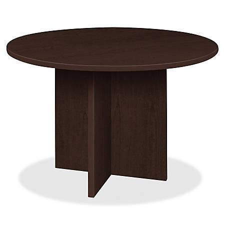 """Lorell® Prominence 2.0 Round Conference Table, 42""""W, Espresso"""
