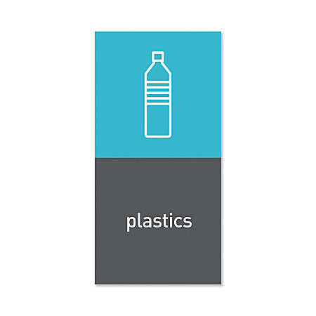 "simplehuman Magnetic Plastic Trash Label, 4"" x 8"", Gray"