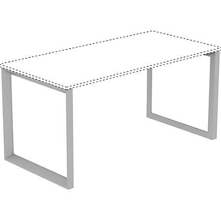 "Lorell Relevance Series Desk-height Desk Leg Frame - 28.5"" x 29.1"" - Finish: Silver"