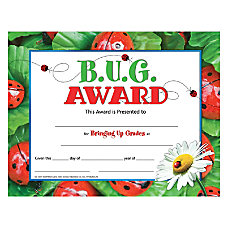 Hayes BUG Award Certificates 8 12