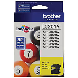 Brother LC201Y Yellow Ink Cartridge