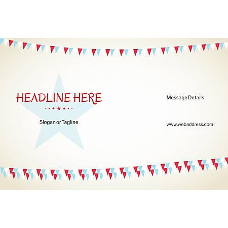 Custom Poster, Bunting Star, Horizontal