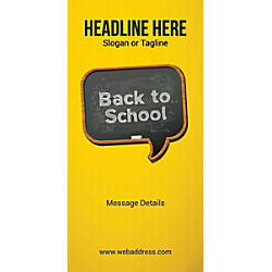 Custom Vertical Banner Back To School