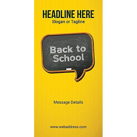Custom Vertical Banner, Back To School