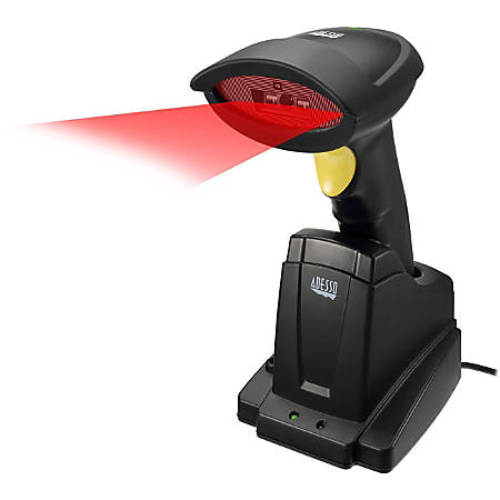 """Adesso NuScan 7300CR Adesso 2.4 GHz Wireless CCD Barcode Scanner - Wireless Connectivity - 500 scan/s - 20"""" Scan Distance - 1D - CCD - , Radio Frequency"""
