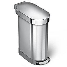 simplehuman Slim Stainless Steel Step Trash